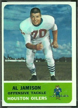 Al Jamison 1962 Fleer football card