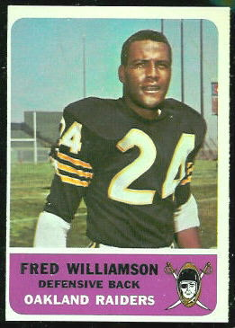 Fred Williamson 1962 Fleer football card