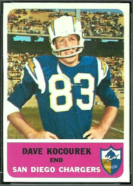 Dave Kocourek 1962 Fleer football card