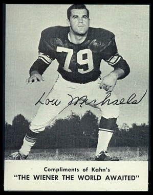 Lou Michaels 1962 Kahns football card