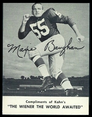 Maxie Baughan 1962 Kahns football card