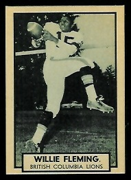 Willie Fleming 1962 Topps CFL football card