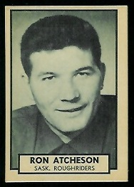 Ron Atchison 1962 Topps CFL football card