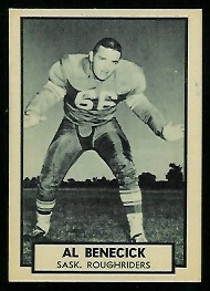Al Benecick 1962 Topps CFL football card