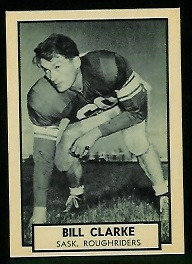 Bill Clarke 1962 Topps CFL football card