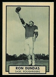 Ron Dundas 1962 Topps CFL football card