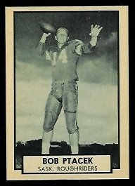Bob Ptacek 1962 Topps CFL football card