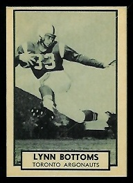Lynn Bottoms 1962 Topps CFL football card