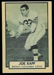 Joe Kapp 1962 Topps CFL football card