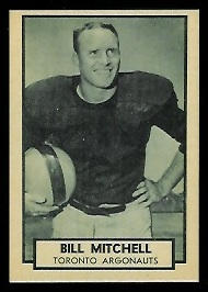 Bill Mitchell 1962 Topps CFL football card
