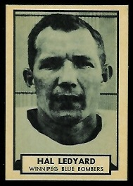1962 Topps CFL Hal Ledyard football card