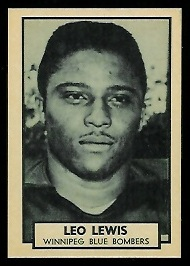 Leo Lewis 1962 Topps CFL football card
