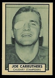 Joe Carruthers 1962 Topps CFL football card
