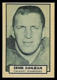 Ernie Danjean 1962 Topps CFL football card