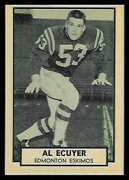 Al Ecuyer 1962 Topps CFL football card