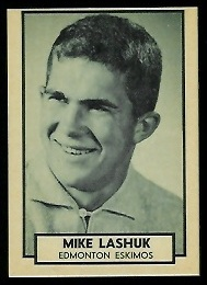 Mike Lashuk 1962 Topps CFL football card