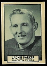 Jackie Parker 1962 Topps CFL football card