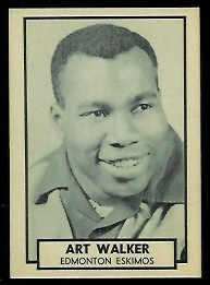 Art Walker 1962 Topps CFL football card