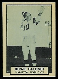 Bernie Faloney 1962 Topps CFL football card