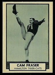Cam Fraser 1962 Topps CFL football card