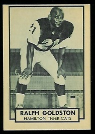 Ralph Goldston 1962 Topps CFL football card