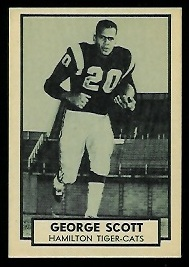 George Scott 1962 Topps CFL football card
