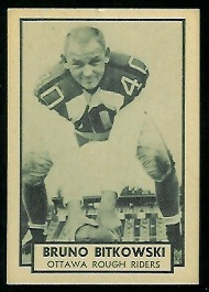 Bruno Bitkowski 1962 Topps CFL football card