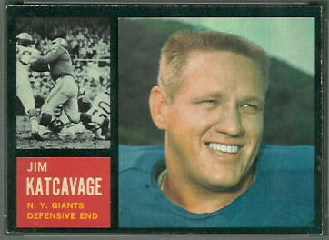 Jim Katcavage 1962 Topps football card
