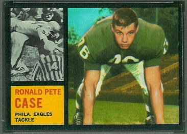 Pete Case 1962 Topps football card