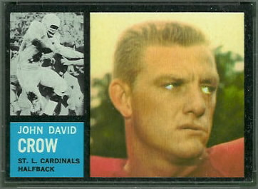 John David Crow 1962 Topps football card