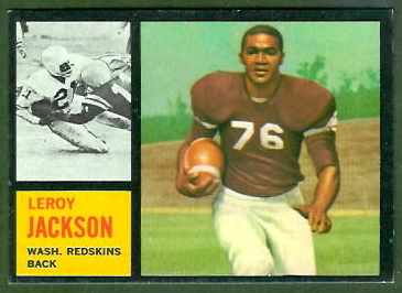 Leroy Jackson 1962 Topps football card