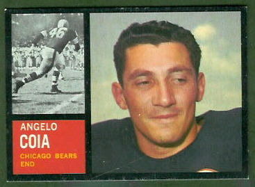 Angelo Coia 1962 Topps football card