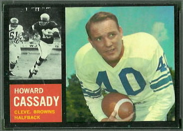 Howard Cassady 1962 Topps football card