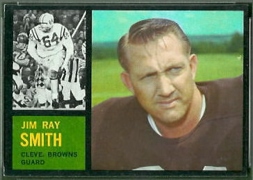 Jim Ray Smith 1962 Topps football card