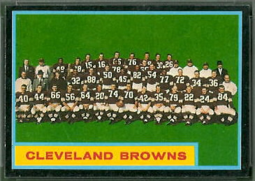 Cleveland Browns Team 1962 Topps football card