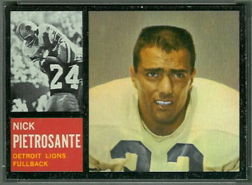 Nick Pietrosante 1962 Topps football card