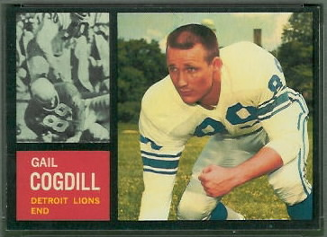 Gail Cogdill 1962 Topps football card