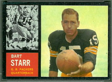 Bart Starr 1962 Topps football card