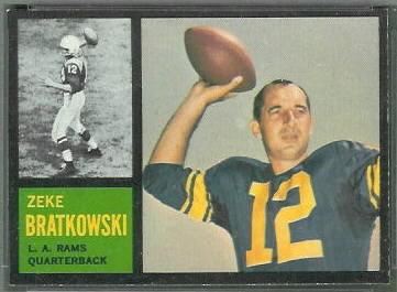 Zeke Bratkowski 1962 Topps football card