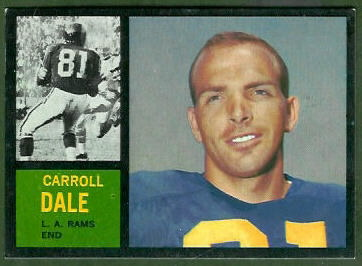 1962 Topps Carroll Dale rookie football card