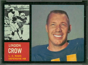 Lindon Crow 1962 Topps football card