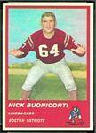 1963 Fleer Nick Buoniconti