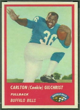 Cookie Gilchrist 1963 Fleer football card
