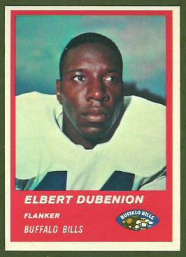 Elbert Dubenion 1963 Fleer football card