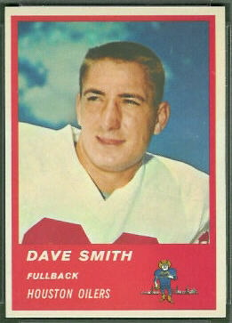 Dave Smith 1963 Fleer football card