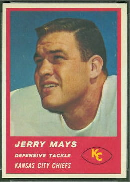 Jerry Mays 1963 Fleer football card