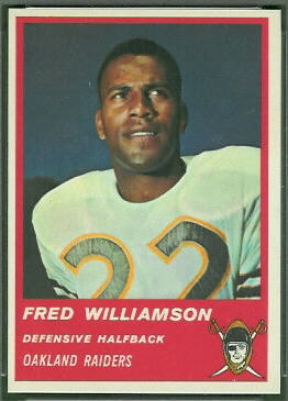 Fred Williamson 1963 Fleer football card