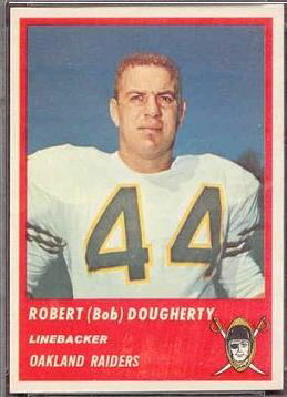 Bob Dougherty 1963 Fleer football card