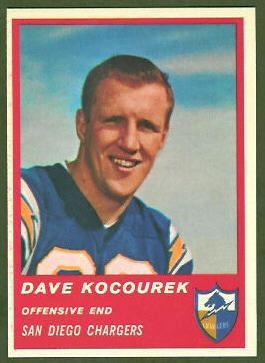 Dave Kocourek 1963 Fleer football card