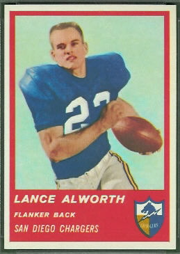 Lance Alworth 1963 Fleer football card